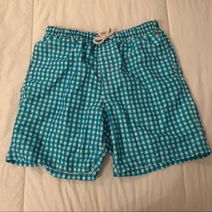 🍀 Joe Fresh Men's Checkered Print Swim Trunks